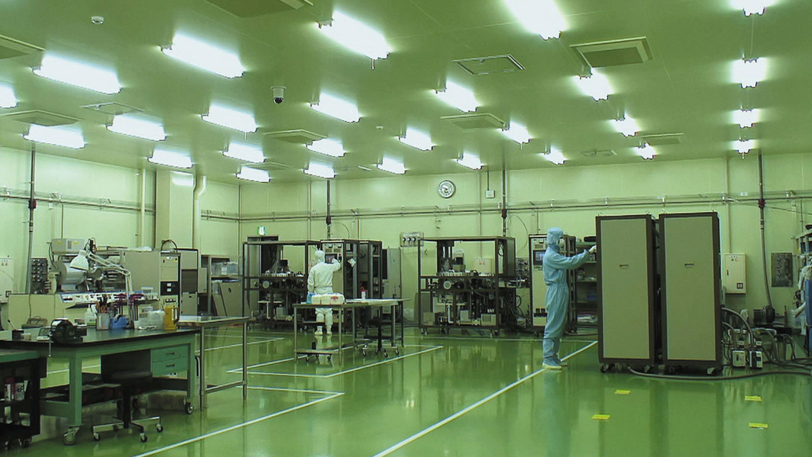 Manufacture of equipment in our own clean rooms